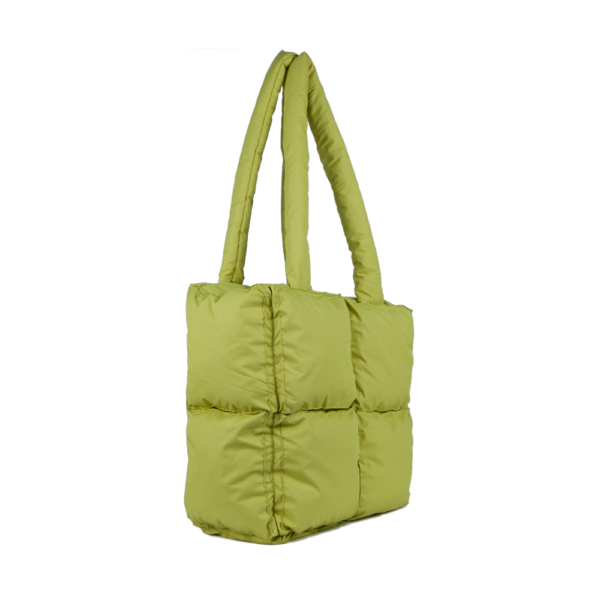 Дутая сумка (артикул PE-4-1) из полиэстера фисташкового цвета