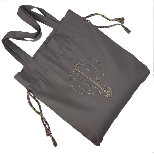 Сумка шоппер мешок серого цвета