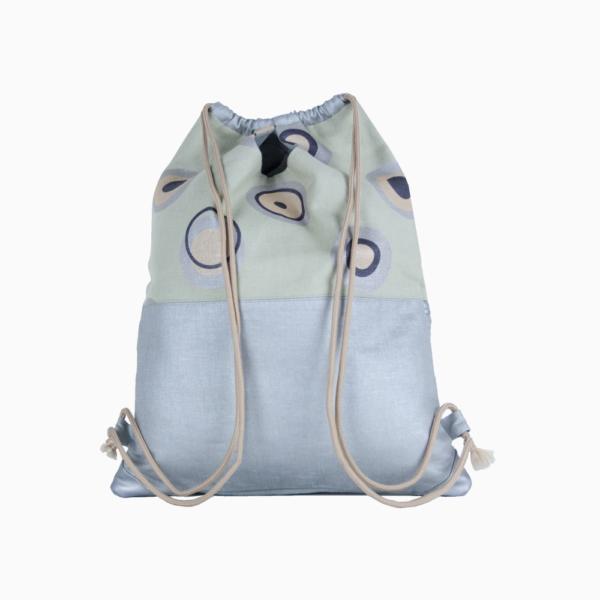 Рюкзак трансформер (артикул EC-5-1) изо льна и хлопка