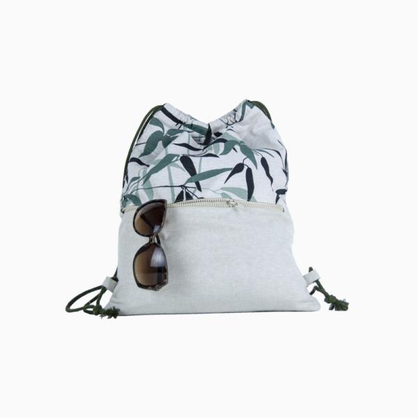 Рюкзак трансформер из льна и хлопка EC-5-3